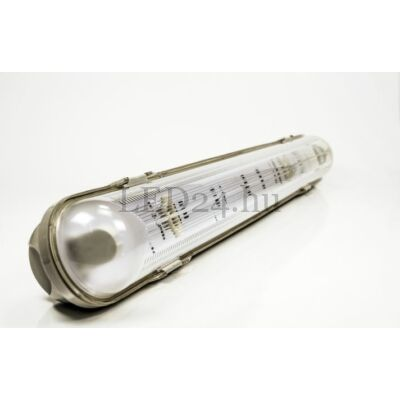 fénycső IP65 armatúra 1db 60cm hidegfehér led fénycsővel