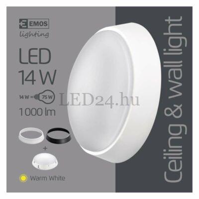 14W led panel, felületre szerelhető, kör, meleg fehér