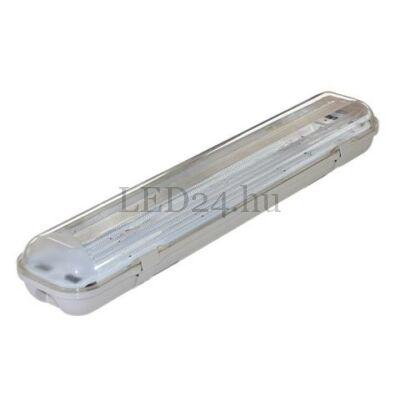 fénycső IP65 armatúra 2db 60cm meleg fehér led fénycsővel