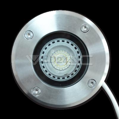 Talajba süllyeszthető kerti világítás foglalat (GU10, 230V)