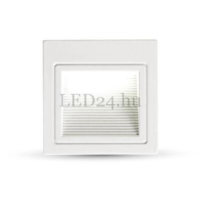 3W-os LED lépcsővilágítás (100 lumen, fehér ház, természetes fehér)