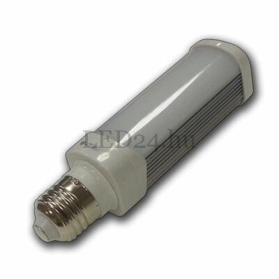 6w PL led lámpa E27 meleg fehér
