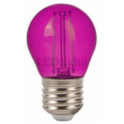 2w rózsaszín filament led izzó