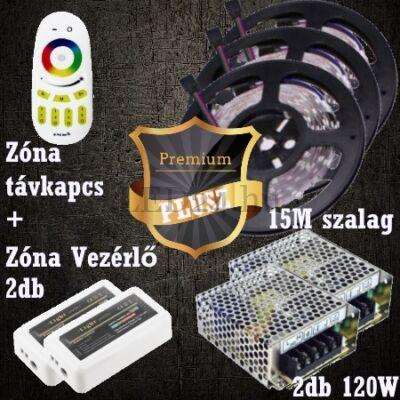 Prémium Plusz (5050 SMD 60led/m szalag +RF touch vezérlő + 2db 120W táp)