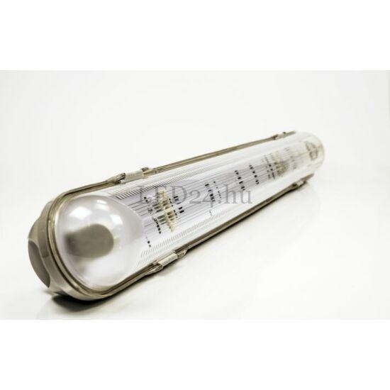 fénycső IP65 armatúra 1db 60cm meleg fehér led fénycsővel