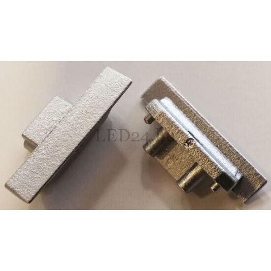 egyenes végzáró groove alumínium profilhoz