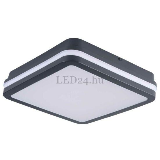 Kanlux Beno led lámpa, 24w, természetes fehér, grafit négyzet, mozgásérzékelős