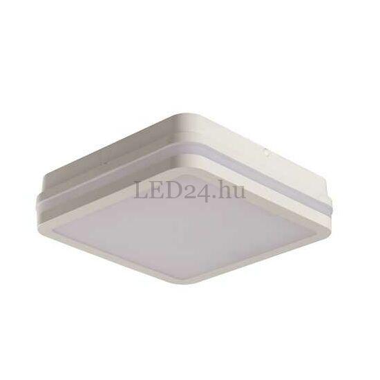 Kanlux Beno led lámpa, 18w, természetes fehér, fehér négyzetes, mozgásérzékelős