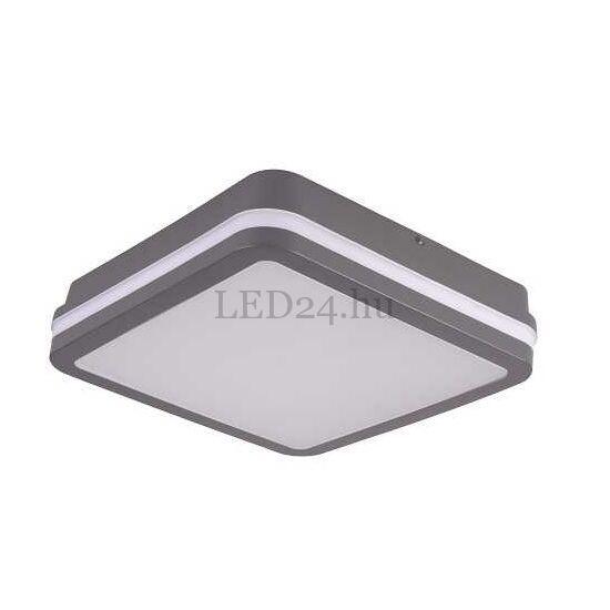 Kanlux Beno led lámpa, 18w, természetes fehér, grafit négyzetes, mozgásérzékelős