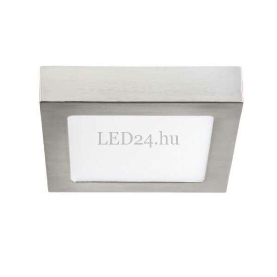 12W természetes fehér, led panel, falon kívüli ezüst keretes.