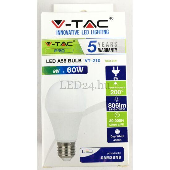 9w led lámpa természetes fehér 200 fok