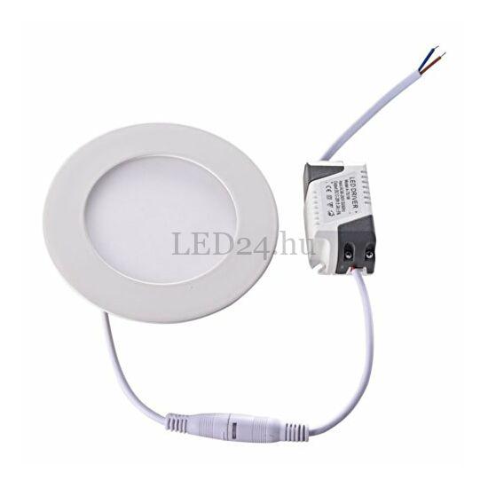 6w beépíthető kör led panel természetes fehér fénnyel