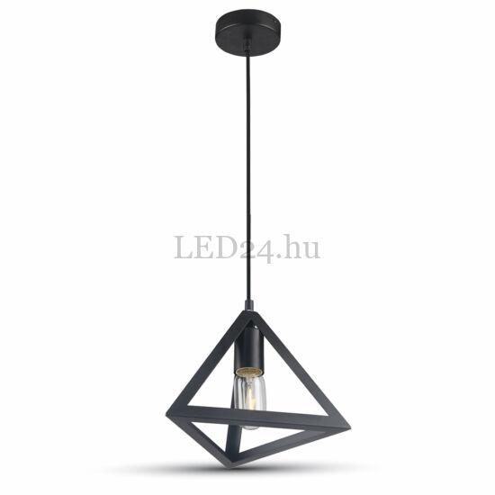 Fekete háromszög dekor lámpatest