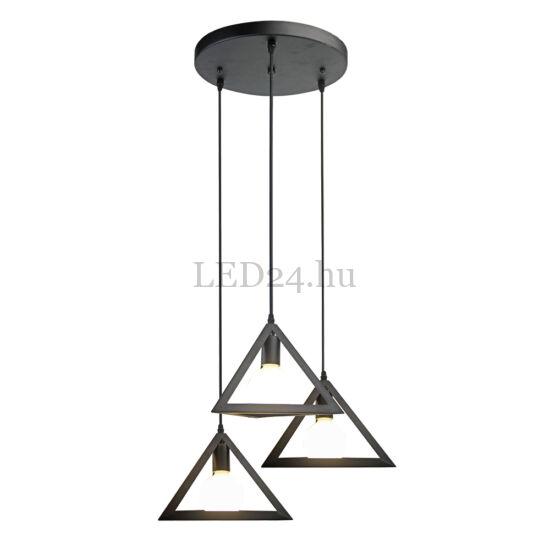 Hármas Fekete háromszög dekor lámpatest