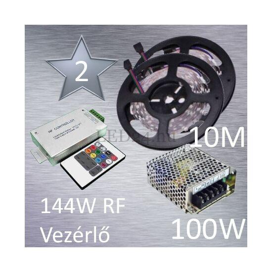 Silver 2 (5050 SMD 30led/m szalag +RF 20 gombos vezérlő + 100W fém táp)